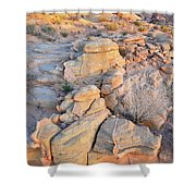Valley Of Fire Sunrise Shower Curtain