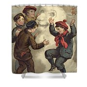 Vintage Christmas Card Shower Curtain