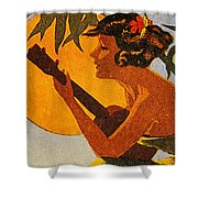 Vintage Hawaiian Art Shower Curtain