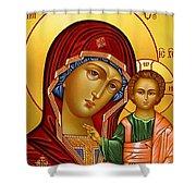 Virgin And Child Christian Art Shower Curtain