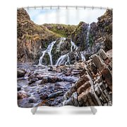 Welcombe Mouth Beach - England Shower Curtain