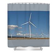 Wind Turbine Farm Shower Curtain