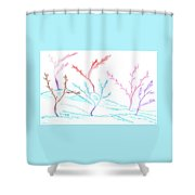 6 Winter Trees Shower Curtain