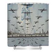 World War II Advertisement Shower Curtain