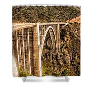 605 Det  Big Sur Bridge 2 Shower Curtain