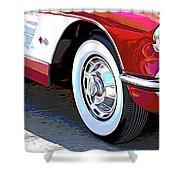 61 Corvette Shower Curtain