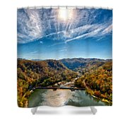 G H Landscape Shower Curtain