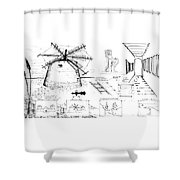 6.20.hungary-3-detail-b Shower Curtain