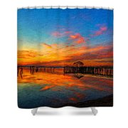 Nature Oil Canvas Landscape Shower Curtain