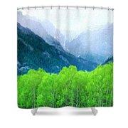 Nature Work Landscape Shower Curtain