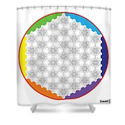 64 Tetra Flower Of Life Shower Curtain