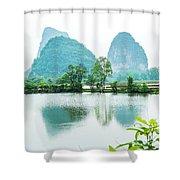 Karst Rural Scenery In Spring Shower Curtain