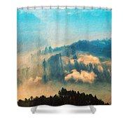 Nature Landscape Illumination Shower Curtain