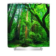 Nature Landscape Light Shower Curtain