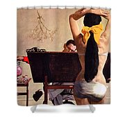 A Partner In Productive Advertising Alfred Parker Shower Curtain