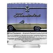 '66 Thunderbird Convertible Shower Curtain