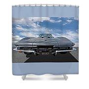 66 Vette Stingray Shower Curtain