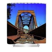 6696 Railroad Bridge Shower Curtain