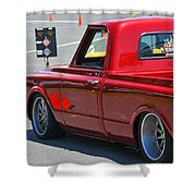 '67 Chevy C10 Awaits Green Light Shower Curtain