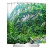 Nature Oil Painting Landscape Images Shower Curtain