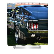 67 Mustang Fastback Shower Curtain