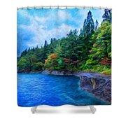 Nature Landscape Light Shower Curtain