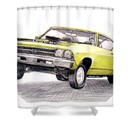 69 Chevelle Ss Shower Curtain