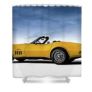 '69 Corvette Sting Ray Shower Curtain