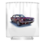 69 Ford Mustang Shower Curtain by Mamie Thornbrue
