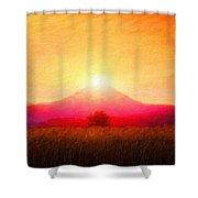 Landscape Nature Art Shower Curtain