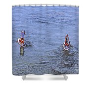 69- Paddle Boarders Shower Curtain