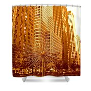 6th Avenue In Mahattan Shower Curtain
