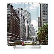6th Avenue New York 1950 Shower Curtain