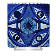 6th Mandala - Third Eye Chakra  Shower Curtain
