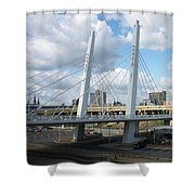6th Street Bridge Shower Curtain