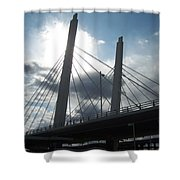 6th Street Bridge Backlit Shower Curtain