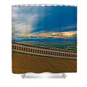 6x1 Philippines Number 413 Panorama Tagaytay Shower Curtain