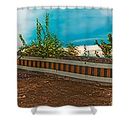 6x1 Philippines Number 432 Tagaytay Panorama Shower Curtain