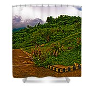 6x1 Philippines Number 470 Panorama Tagaytay Shower Curtain