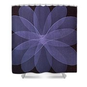 Abstract Flower  Shower Curtain
