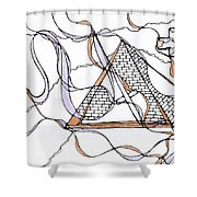 Abstract Pencil Pattern Shower Curtain