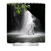 Australia - Peering Into Natural Arch Waterfall Shower Curtain