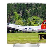 B-17 Bomber Taxiing 1 Shower Curtain