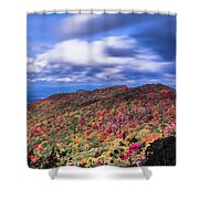 Beautiful Autumn Landscape In North Carolina Mountains Shower Curtain