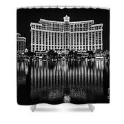 Bellagio Hotel And Casino At Night Shower Curtain
