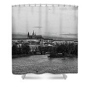 By The Vltava. Prague Spring 2017 Shower Curtain