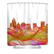 Charlotte Nc Skyline Skyline Shower Curtain