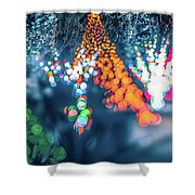 Christmas Season Decorationsafter Sunset At The Gardens Shower Curtain