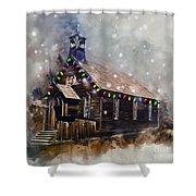 Church At Christmas Shower Curtain