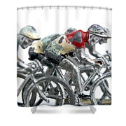 Cyclists Shower Curtain